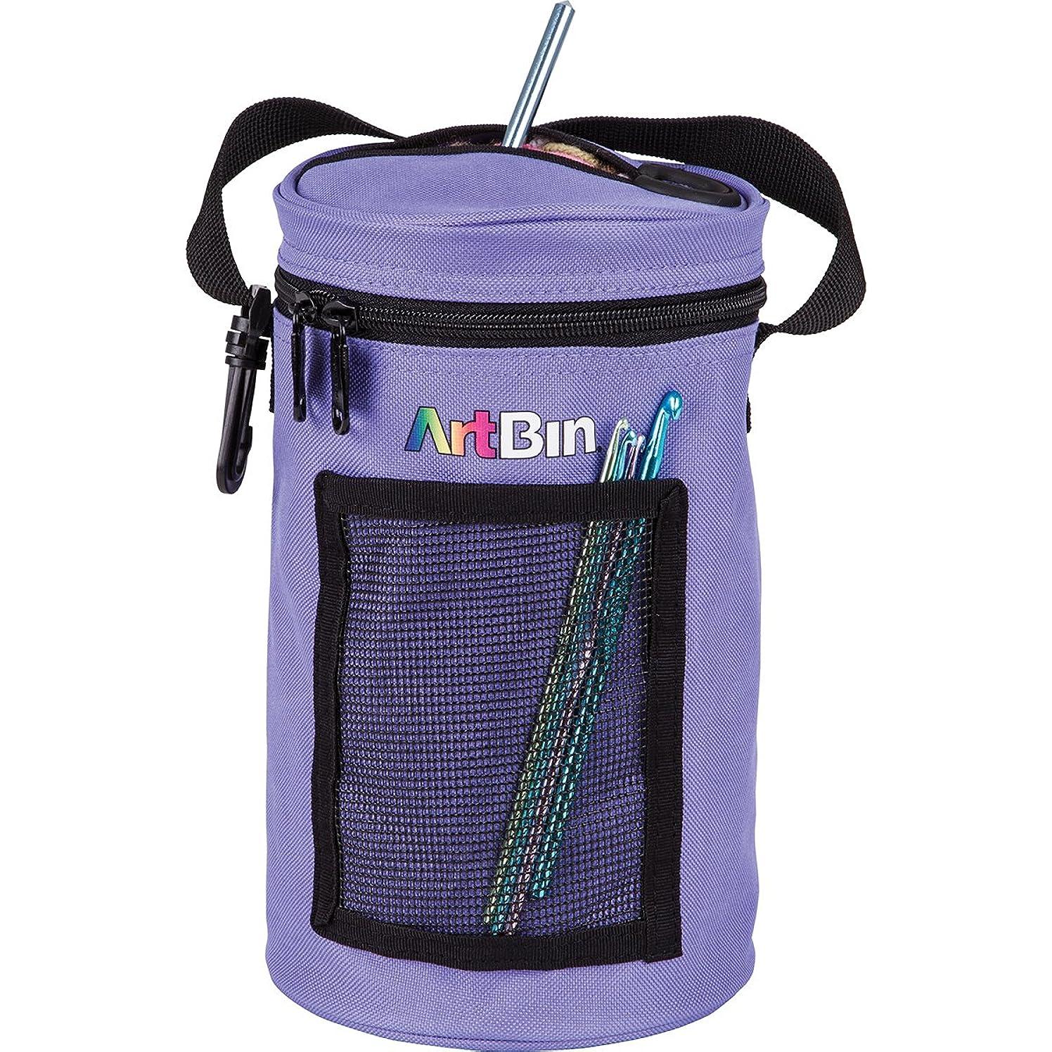 ArtBin Mini Yarn Drum Knitting and Crochet Tote Bag, Periwinkle 6832AG,
