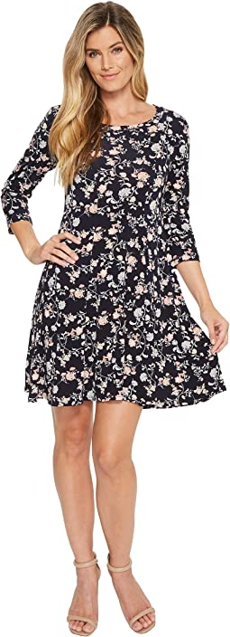 Karen Kane 3/4 Sleeve Swing Dress