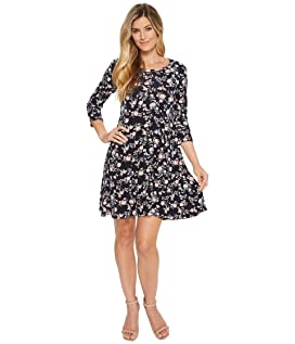 3/4 Sleeve Swing Dress