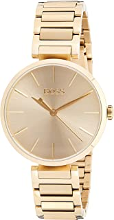 Hugo Boss Women's Beige Dial Stainless Steel Band Watch - 1502415