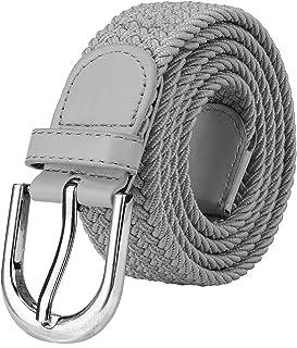 Falari Men Women Canvas Elastic Fabric Woven Stretch Braided Belt - 21  Variety Colors a9010e12ef