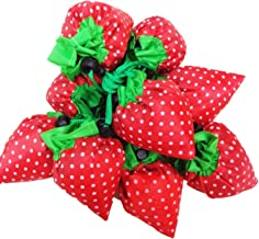 Strawberry Reusable Grocery Bags Assorted Color Shopping Eco Bags (Multi-Color - Pack of 20) By DGQ