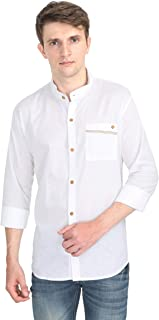 VERSATYL- Mens Cotton Linen Slim Fit Casual Shirt with Full Sleeves