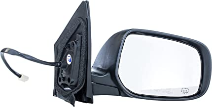 Dependable Direct Right Passenger Side Black Heated Manual Folding Power Operated Door Mirror for Toyota Corolla (2009 2010 2011 2012 2013) - Part Link #: TO1321247