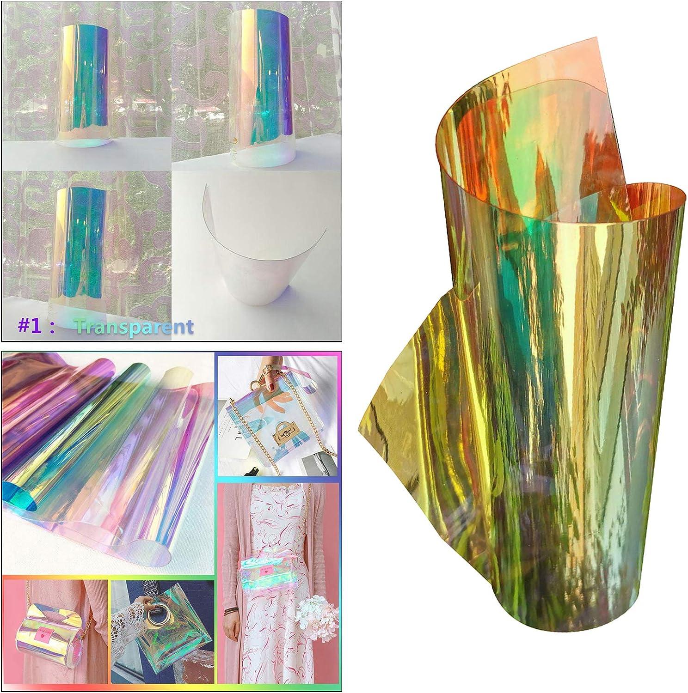 Clear Baoblaze Iris pel/ícula hologr/áfica Vinilo Papel l/áser para Paquete Bolsa Patchwork Signo Arte proyectos DIY Pegatina Decoraci/ón