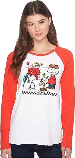 Vans - Peanuts Christmas Long Sleeve Boyfriend Raglan