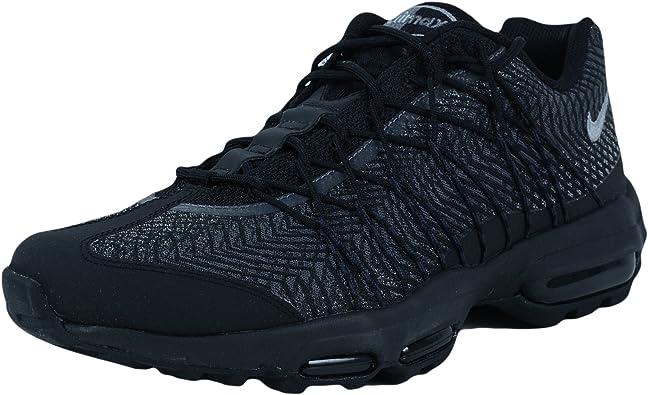 Nike Mens Air Max 95 Ultra JCRD Black/Silver-Dark Grey Fabric