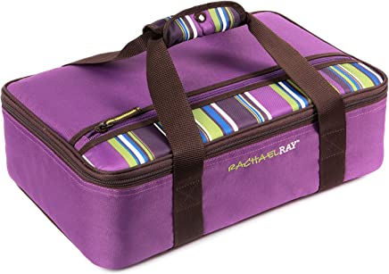 """Rachael Ray Lasagna Lugger, Insulated Casserole Carrier for Potluck Parties, Picnics, Tailgates - Fits 9""""x13"""" Baking Dish, Purple"""