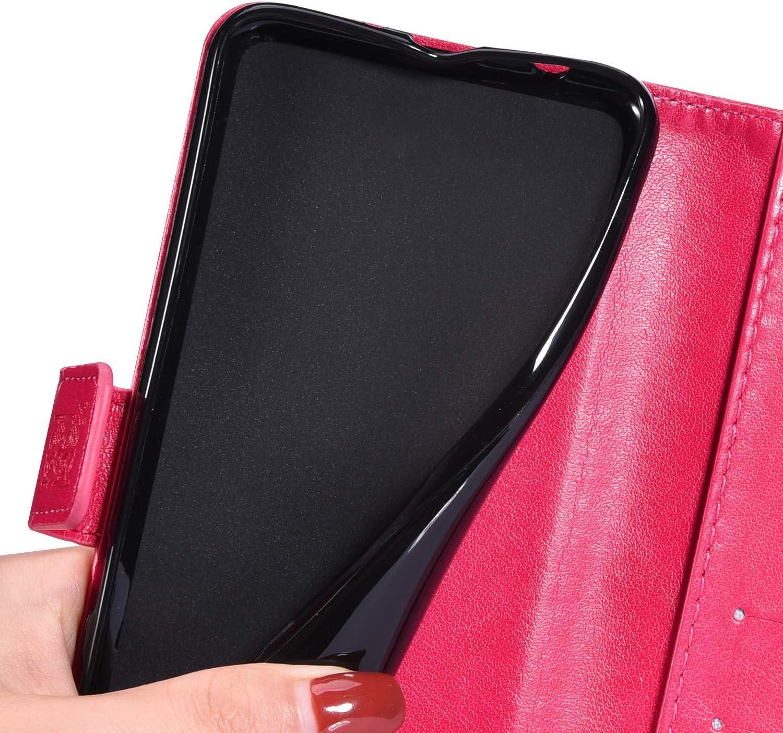 QPOLLY Coque Compatible avec Samsung Galaxy A40,Housse en Cuir Gaufrage Hibou Flip Case avec Fentes de Cartes Fermeture Magn/étique Portefeuille /Étui Bookstyle /à Clapet Coque pour Galaxy A40,Violet