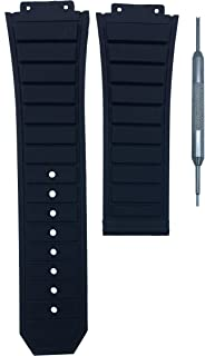 19x29mm Black Rubber Watch Band Replacement Strap for F1 King Power | Free Spring Bar Tool