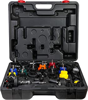 ARES 15002-31-Piece Radiator Pressure Tester and Vacuum Type Cooling System Kit - Easily Test for Leakage in Radiator System - Change Coolant Quickly