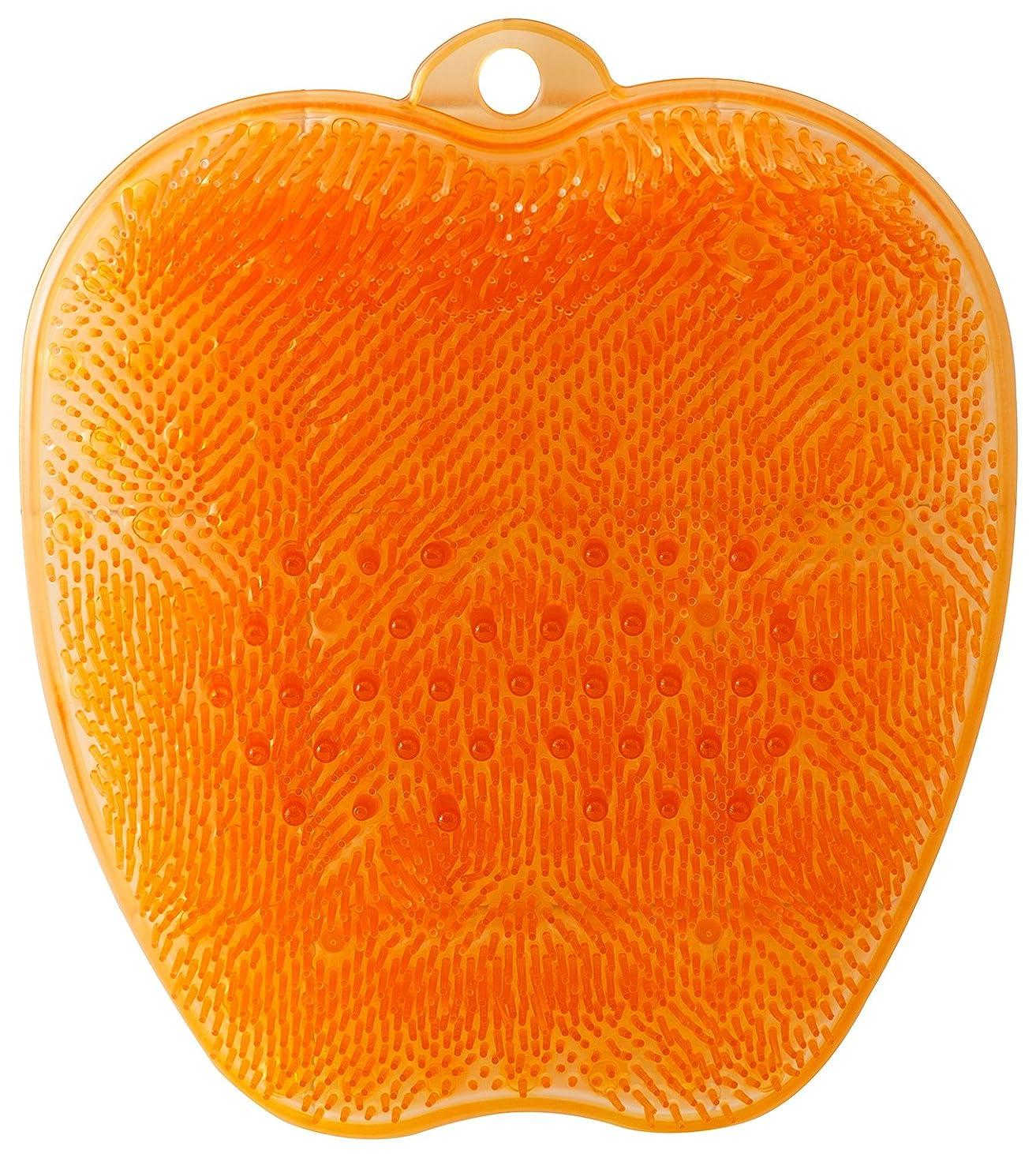 カストディアンループ剥ぎ取るtone フットブラシ オレンジ TR-15