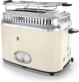 Russell Hobbs TR9150CRR Retro Style Toaster, 2-Slice, Cream (Renewed)