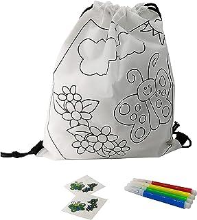 Fun Fan Line® - Ensemble de Sacs à Dos Enfants pour colorier + Tatouages temporaires. des emballages idéaux pour Les Cadea...