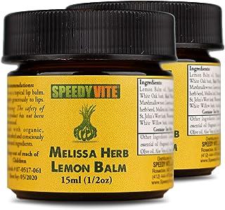 Organic Melissa Herb Lemon Balm SpeedyVite® Best (2 x 1/2 oz [30ml Total] *Value Pack*) for Convenience