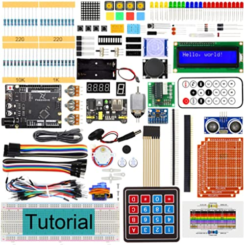 Freenove Ultimate Starter Kit with Board V4 (Compatible with Arduino IDE) (Black Board), 273 Pages Detailed Tutorial,...