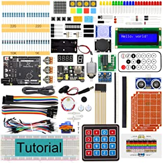 Freenove Ultimate Starter Kit with Board V4 (Compatible with Arduino IDE) (Black Board), 273 Pages Detailed Tutorial, 217 ...