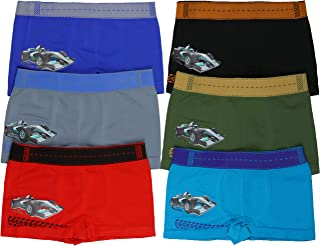 ToBeInStyle Boys' 6 Pack Graphic Decal Print Seamless Boxer Briefs