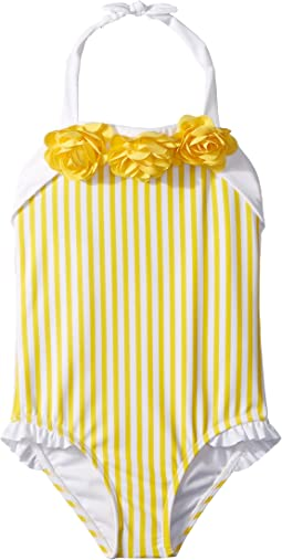 Janie and Jack Yellow Stripe One-Piece Swimsuit (Toddler/Little Kids/Big Kids)