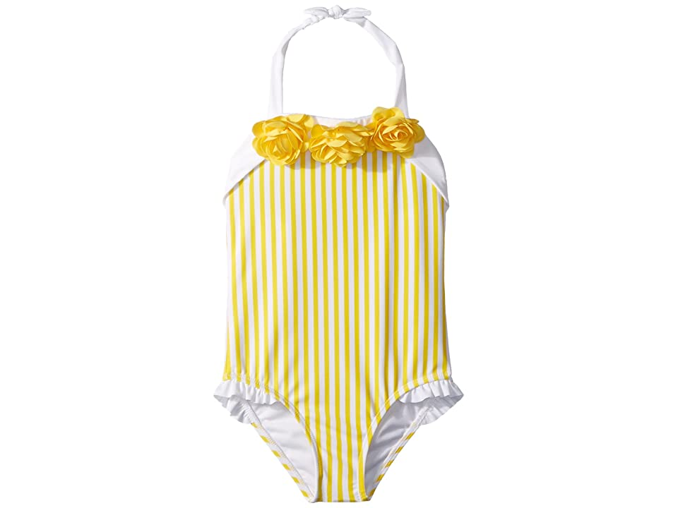 Janie and Jack Yellow Stripe One-Piece Swimsuit (Toddler/Little Kids/Big Kids) (Yellow Cab) Girl