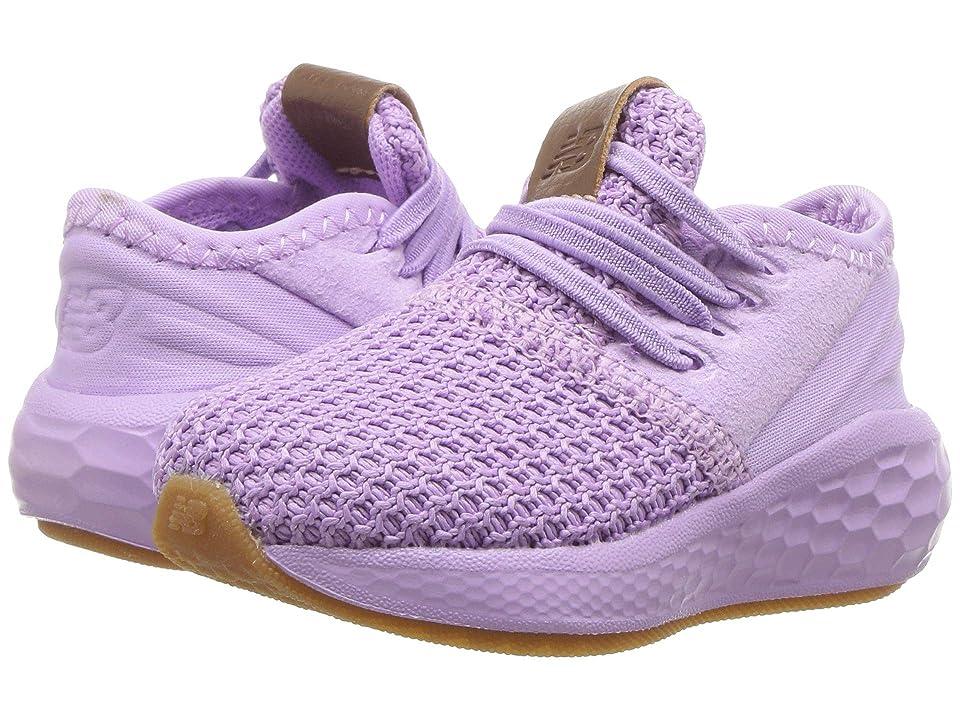 New Balance Kids KVCZDv2I (Infant/Toddler) (Dark Violet/Violet Glo) Girls Shoes