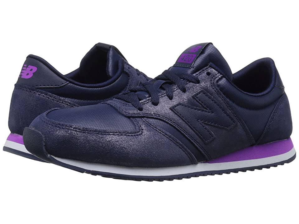 New Balance Classics WL420 (Dark Purple Leather/Textile) Women