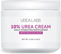 Urea Cream 10% Dry Skin Moisturizer combined with Salicylic Acid and Lavender Oil. Daily Urea Healing, Hydrating and Therapeutic Cream for Face, Hand Foot and Body Use.