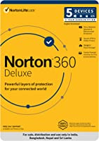 Norton 360 Deluxe - 5 Users 3 Years |Includes Secure VPN & Firewall |Total Security for PC, Mac, Android & iOS |Code...