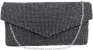 Evening Bag Bling Rhinestone Clutch Purse Fashion Wedding Party Clutch Handbag Shoulder Bag with Chain for Women