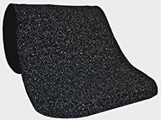 M+A Matting 443 Grey Nitrile Rubber Hog Heaven Confetti Anti-Fatigue Mat with Black Border, 5' Length x 3' Width x 5/8