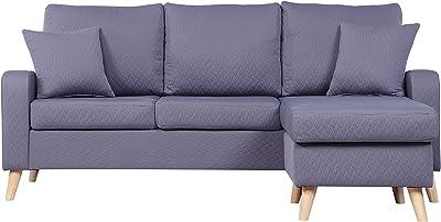 Amazon.com: Divano Roma Furniture Mid Century Modern Linen ...