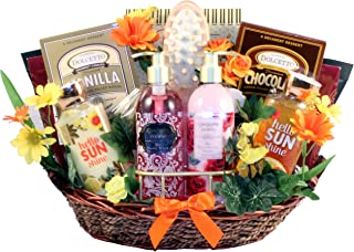 Gift Basket Village Garden of Delights, Bath and Body Gift Basket for Women with Luxury Products for Her to Pamper Herself...