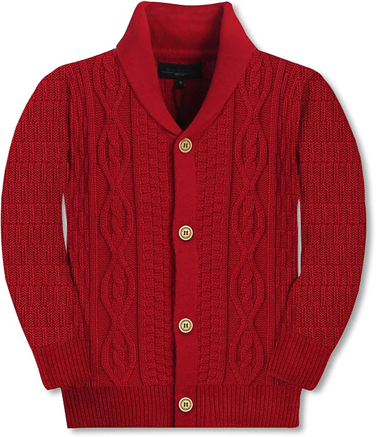 Gioberti Kids and Boys 100/% Cotton Pullover Knitted Sweater with Toggle Button Closure