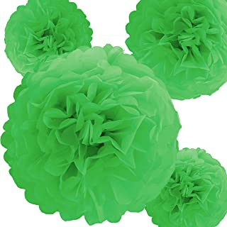 Tissue Paper Pom Poms for Weddings, Showers, Parties and Decorations (Green, 12 Inch (5 Pack))