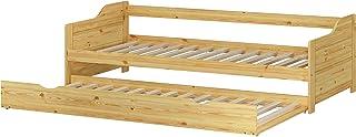 Erst-Holz Lit Banquette gigogne pin Massif Naturel 90x200 avec tiroir, y Compris 2 sommiers 60.34-09