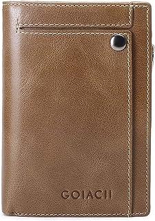 財布 メンズ 本革 縦型短財布 L型ジッパー 小銭入れ コンパクト