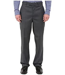 Classic Fit Flat Front Sharkskin Pant