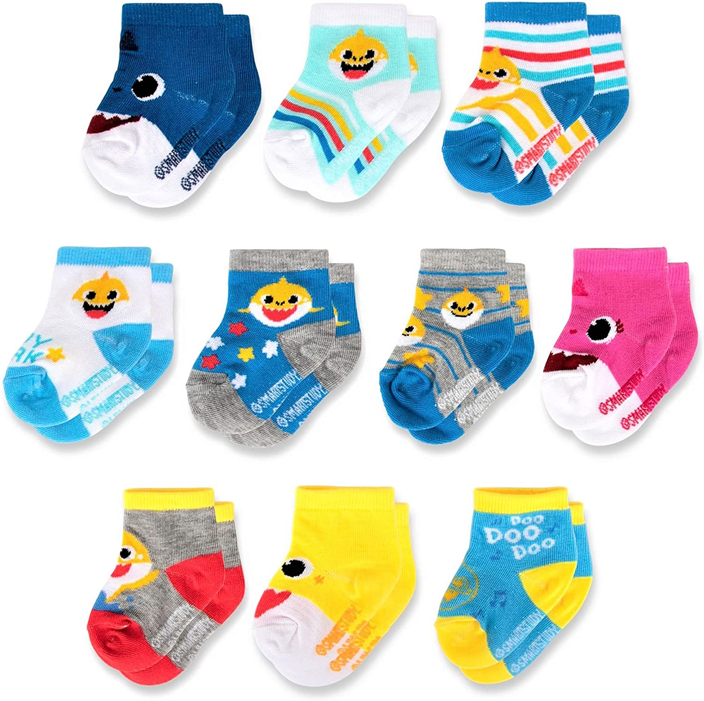 Pinkfong baby-girls Ranking TOP4 Baby Sale Socksnewborn sharkÂÂ