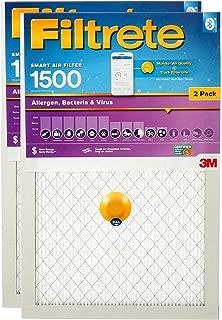 Filtrete 20x25x1 Smart Air Filter, MPR 1500, Allergen, Bacteria & Virus AC Furnace Air Filter, 2-Pack - S-UR03-2PK-6E