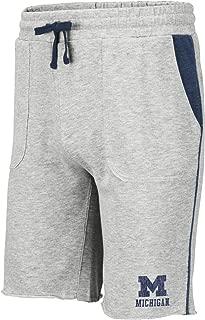 NCAA Mens Cutoff Athletic Training Gym Shorts with Pockets-Heather Grey