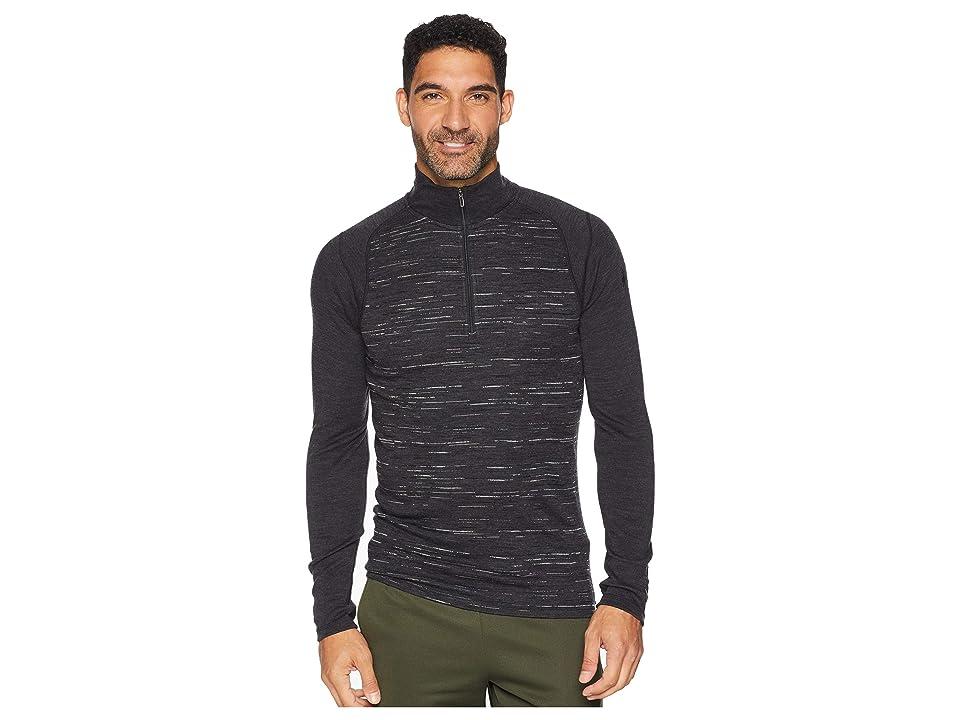 Smartwool NTS Mid 250 Pattern Zip T (Charcoal/Black) Men