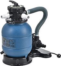 pro.tec Filtro de Arena con Bomba 400 W Diámetro del Filtro 30 cm Accesorio para Piscina Jacuzzi hasta 20 kg de Arena Válvula con 5 Funciones Equipo Limpieza Depuradora de Agua Azul