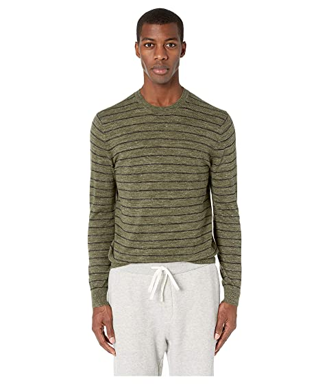 Vince Striped Crew Long Sleeve