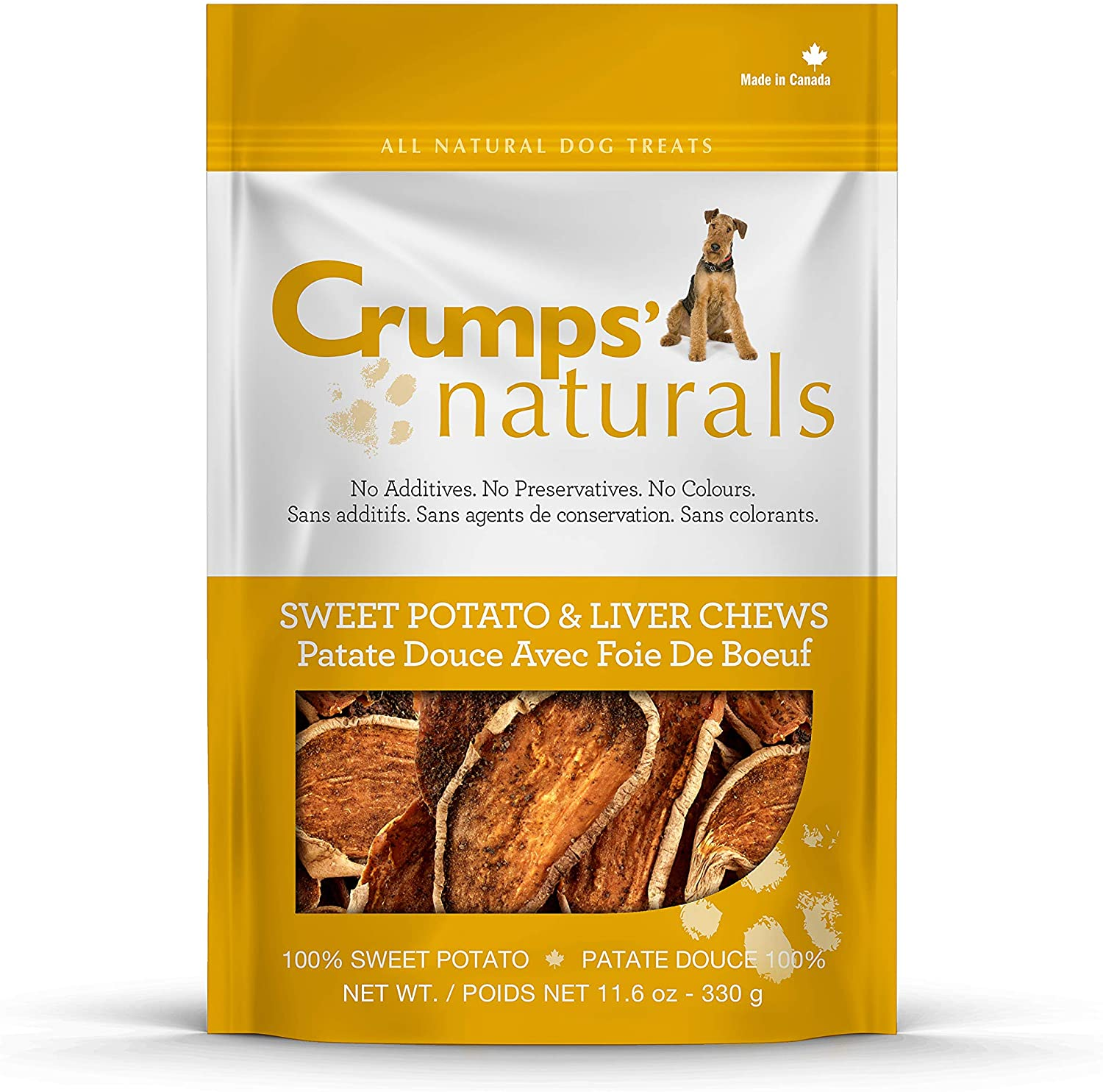 Crumps Naturals Sweet Potato and Liver for Pets 5.6-Ounce