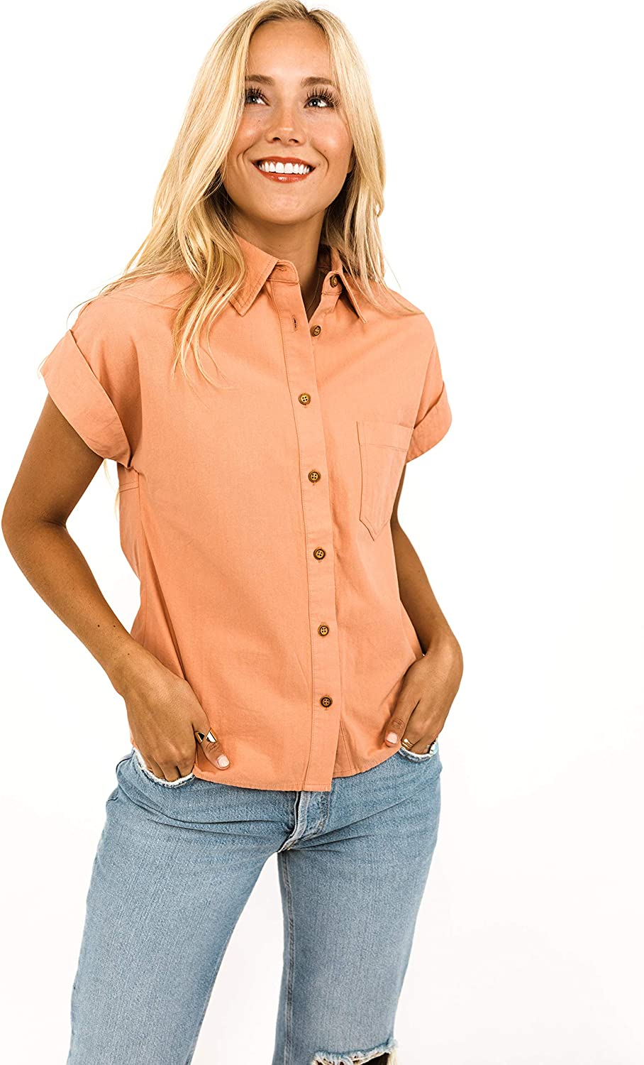 Roolee - Lily Button Long-awaited Ranking TOP18 Top Blouses Women's Modest Cl Down