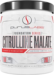 Citrulline Malate 2:1 by Purus Labs | 200g Pure L-Citrulline DL-Malate | Powdered Supplement (100 Servings)