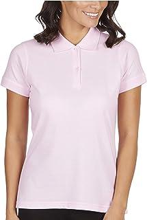 B&C Women's Short Sleeve Basic Casual Cotton Polo Shirt Top