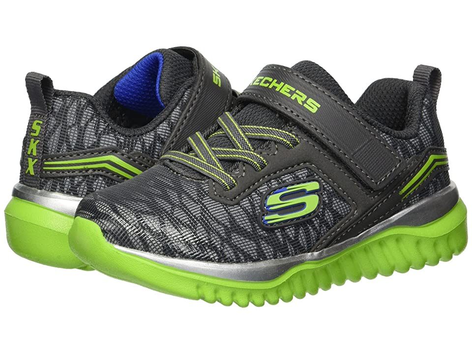 SKECHERS KIDS Turboshift Ultraflector (Toddler) (Charcoal/Lime) Boy