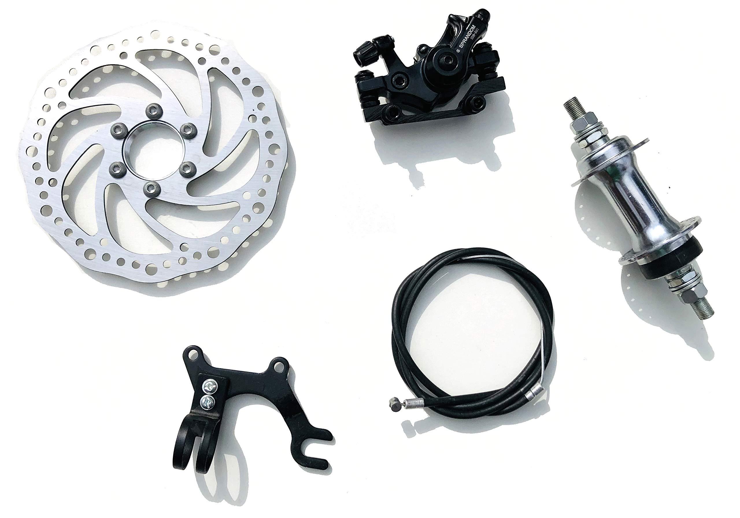 AASHOPPERS - Juego de Frenos de Disco mecánicos para Bicicleta de montaña (160 mm): Amazon.es: Deportes y aire libre