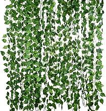 CLISPEED Folhas Artificiais de Ivy Plantas Videira Com Laços Pendurados Guirlanda Flores Folhagem Falsa Folhas Verdes Fals...